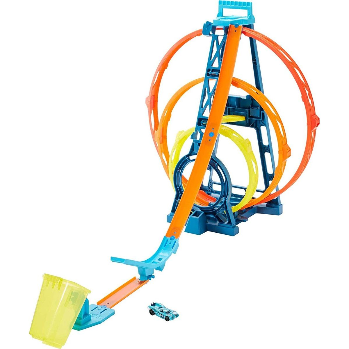 Mattel Hot Wheels track builder trojitá smyčka