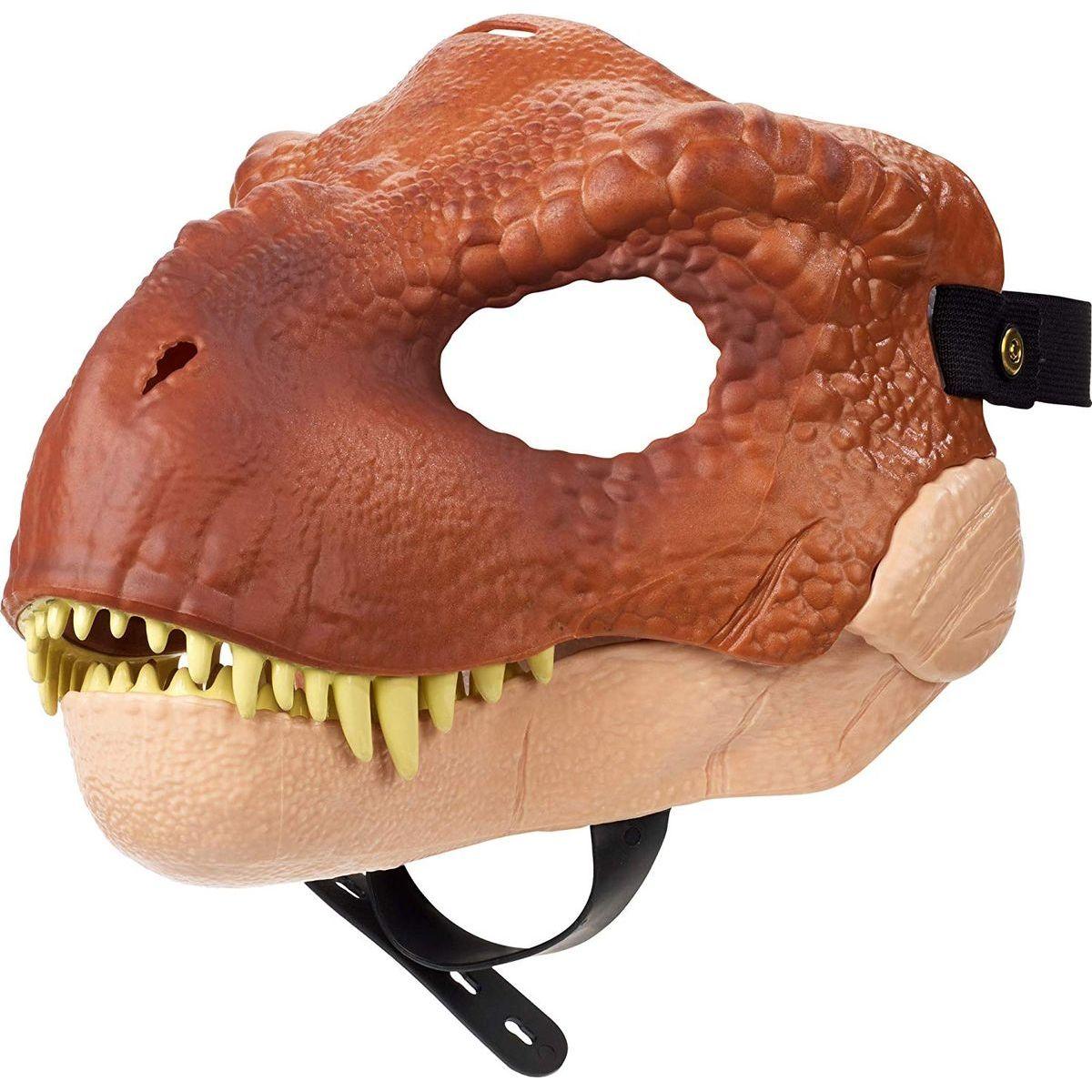 Mattel Jurský svět dino maska Tyrannosaurus Rex hnědý