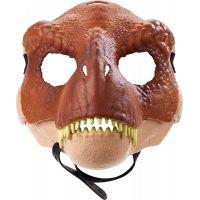 Mattel Jurský svět dino maska Tyrannosaurus Rex hnědý 2