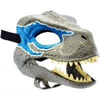 Mattel Jurský svět dino maska Velociraptor Blue