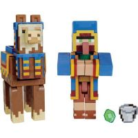 Mattel Minecraft 8 cm figurka dvojbalení Llama a Wandering Trader