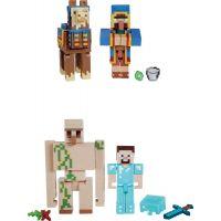 Mattel Minecraft 8 cm figurka dvojbalení Llama a Wandering Trader 3