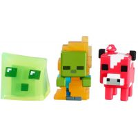 Mattel Minecraft minifigurka 3ks - Mooshroom, Zombie in Flames and Slime Cube