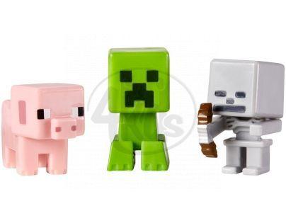 Mattel Minecraft minifigurka 3ks - Skeleton, Pig and Creeper