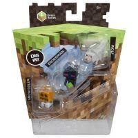 Mattel Minecraft minifigurka 3ks - Snow Golem, Enderman a Wolf 3