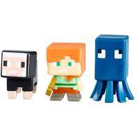 Mattel Minecraft minifigurka 3ks - Squid, Alex and Black Sheep