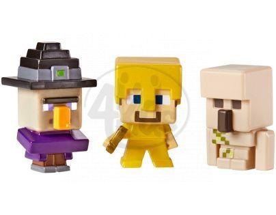 Mattel Minecraft minifigurka 3ks - Witch, Steve a Iron Golem