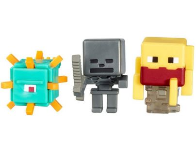 Mattel Minecraft minifigurka 3ks - Wither Skeleton, Blaze and Guardian