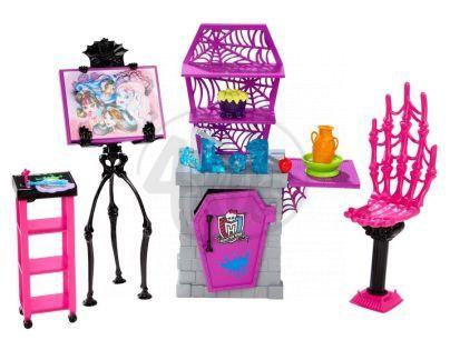 Monster High BDD81 Školní set - Ateliér hodiny umění