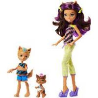 Mattel Monster High sourozenci monsterky 2 ks Clawdeen Wolf