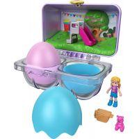 Mattel Polly Pocket malá jarní vajíčka modrá krabička