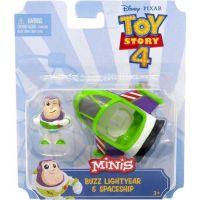 Mattel Toy story 4 minifigurka s vozidlem Buzz Lightyer a Spaceship 4