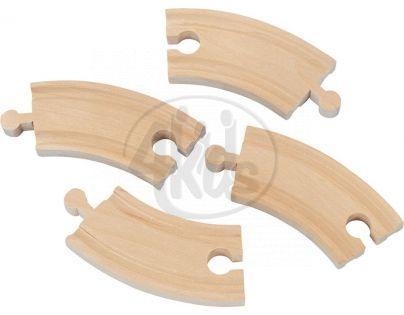 MAXIM 50905 - Dlouhá kruhová kolej průměr 40cm - 4 kusy