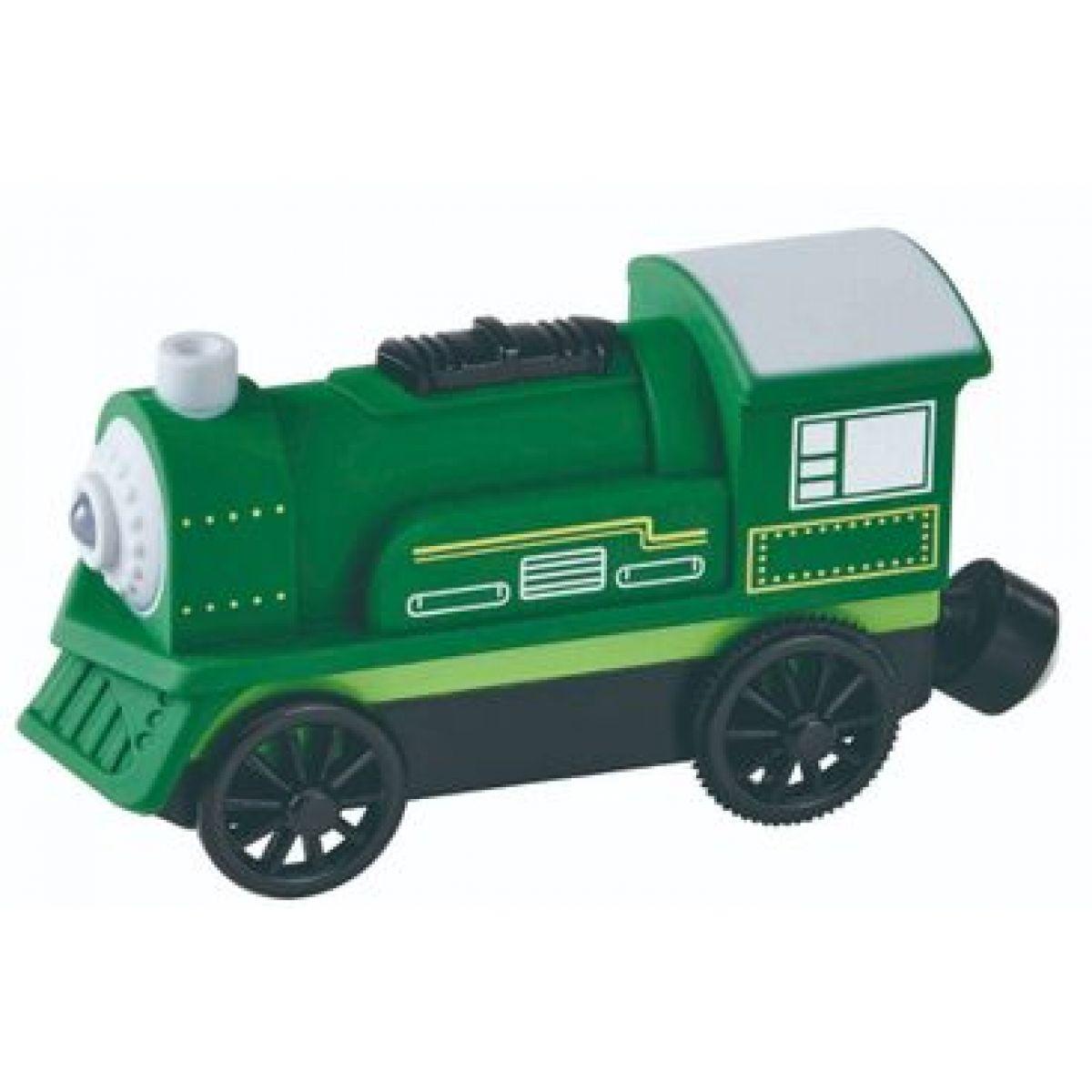 Maxim Elektrická lokomotiva zelená s černými koly