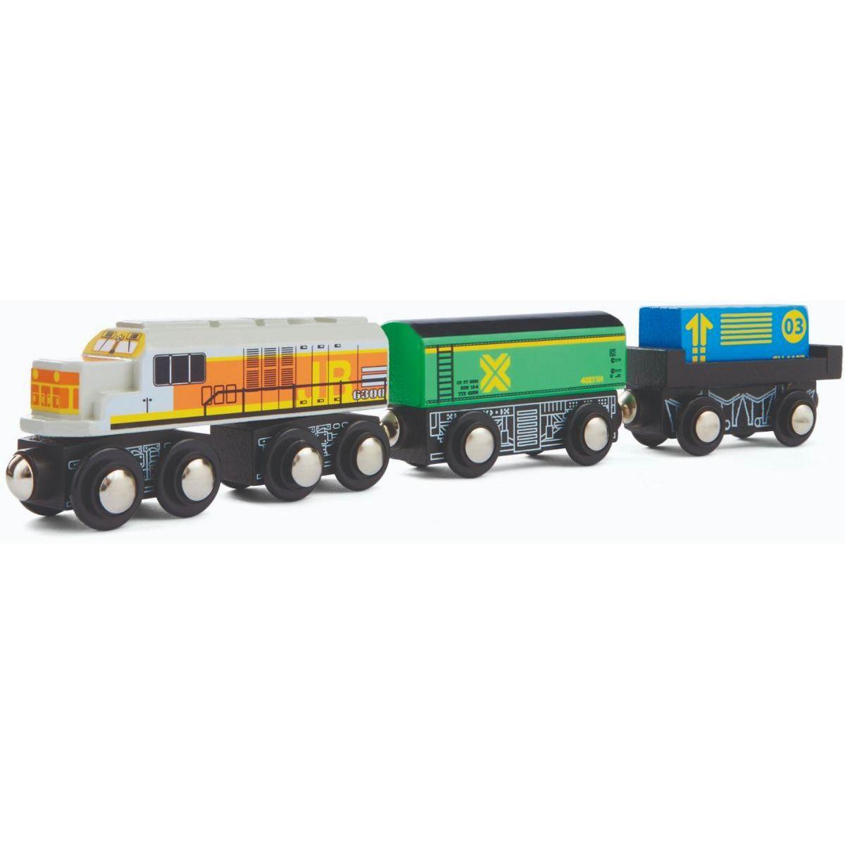 Maxim Nákladní souprava s bílou lokomotivou