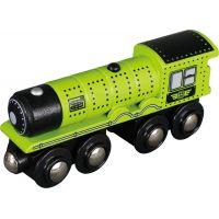 Maxim Parní lokomotiva zelená
