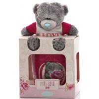 Me to you LOVE Hrneček s plyšovým medvídkem