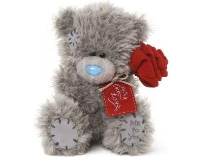 Me to you Medvídek s růží 16cm