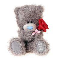 Me to you Medvídek s růží 14,5 cm