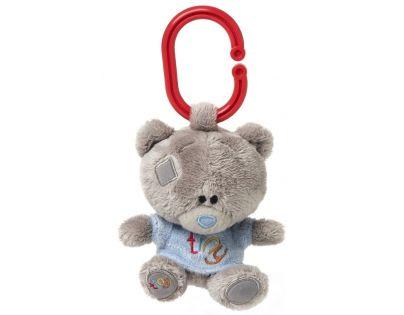 Me to you - Tiny Tatty Teddy -  Medvídek pískátko v modrém tričku 10 cm