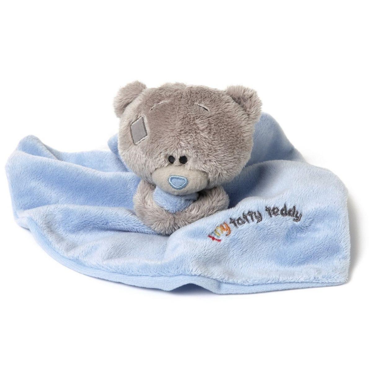 Me to you - Tiny Tatty Teddy - Modrá dečka s medvídkem