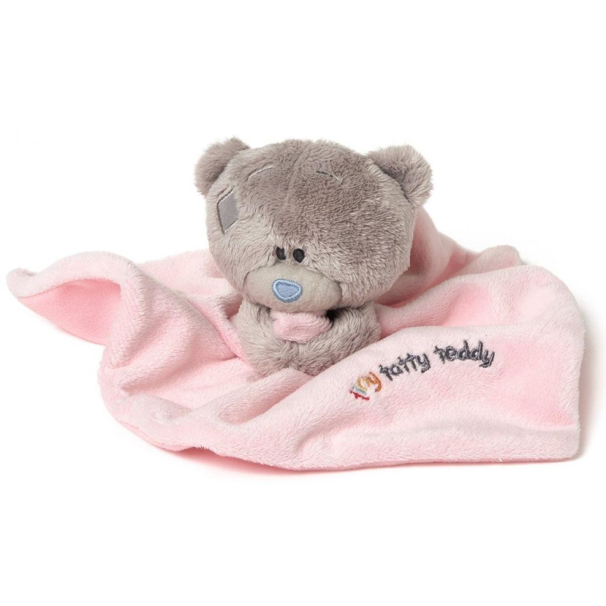 Me to you - Tiny Tatty Teddy - Růžová dečka s medvídkem