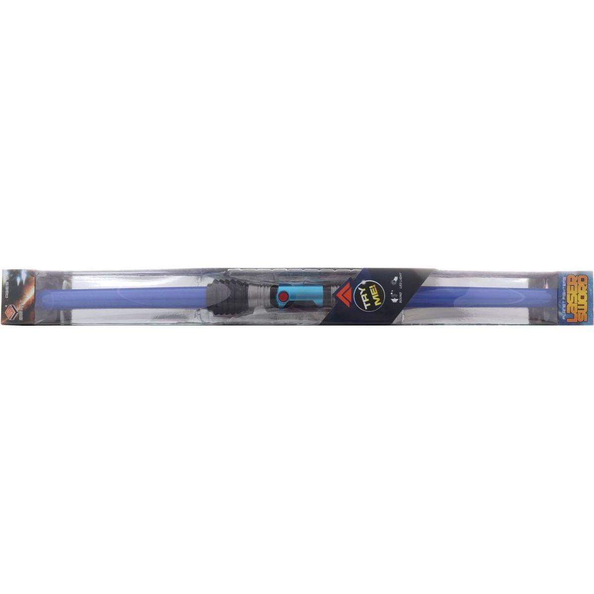 Meč oboustranný se světlem a zvukem modrý