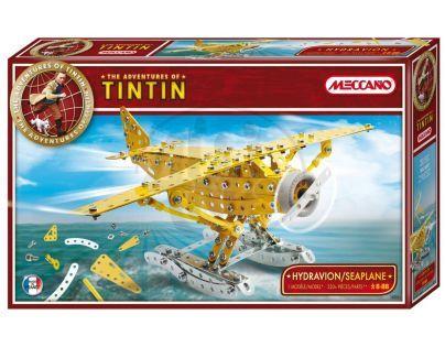 Meccano stavebnice Tintin hydroplán 320 dílků