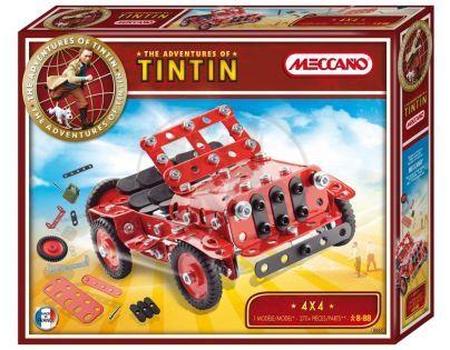 Meccano stavebnice Tintin Jeep 4X4 270 dílků