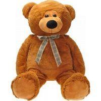 Teddies Medvěd plyš s mašlí 90cm