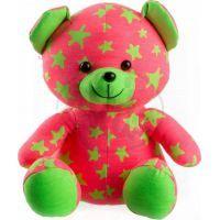 Medvídek svítící ve tmě Růžovozelený