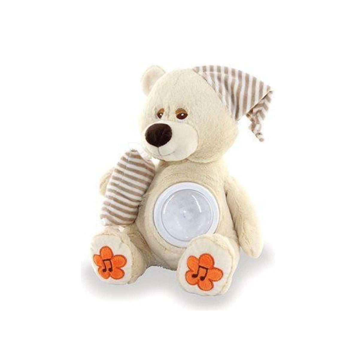 Medvedík Brumlík na spanie so svetlom a melódiou
