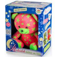 Medvídek svítící ve tmě Růžovozelený 4
