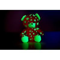 Medvídek svítící ve tmě Růžovozelený 2