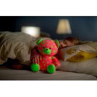 Medvídek svítící ve tmě Růžovozelený 3