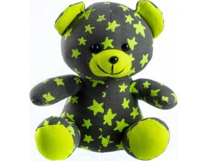 Medvídek svítící ve tmě Šedozelený