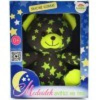 Medvídek svítící ve tmě Šedozelený 4