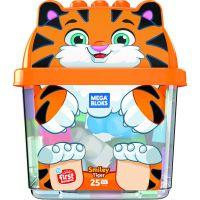 Mega Bloks kyblík s kostkami tygr