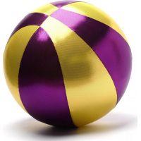 Mega míč textilní zlatofialový