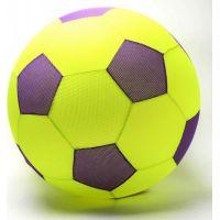 Mega míč textilní žlutofialový