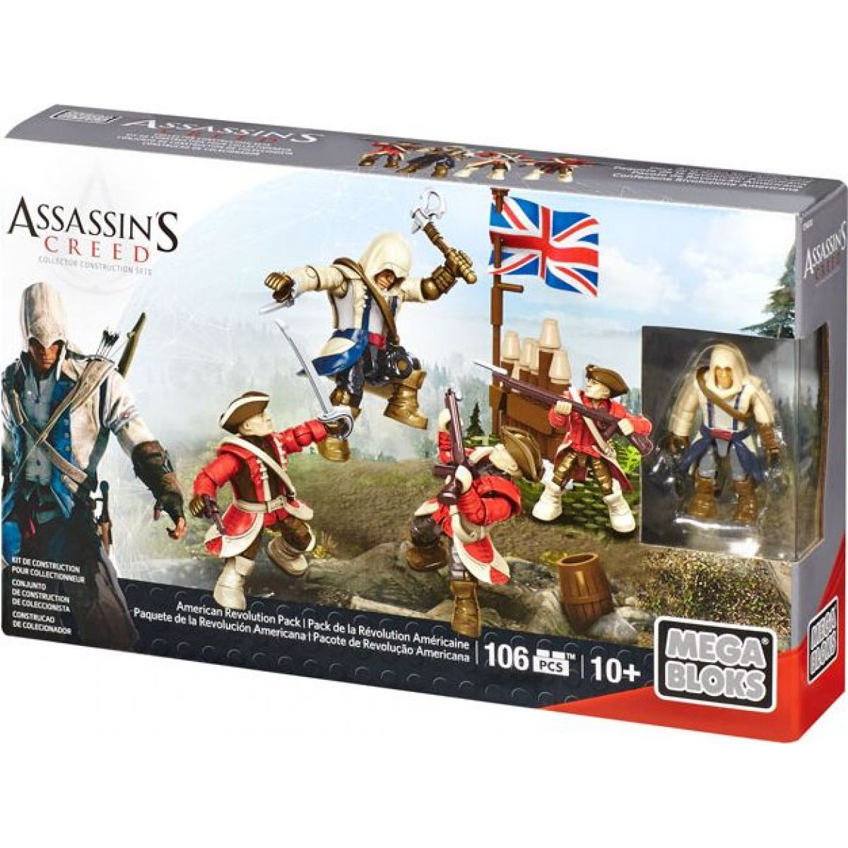 Megabloks Assassin's Creed bojový prapor - American Revolution Pack