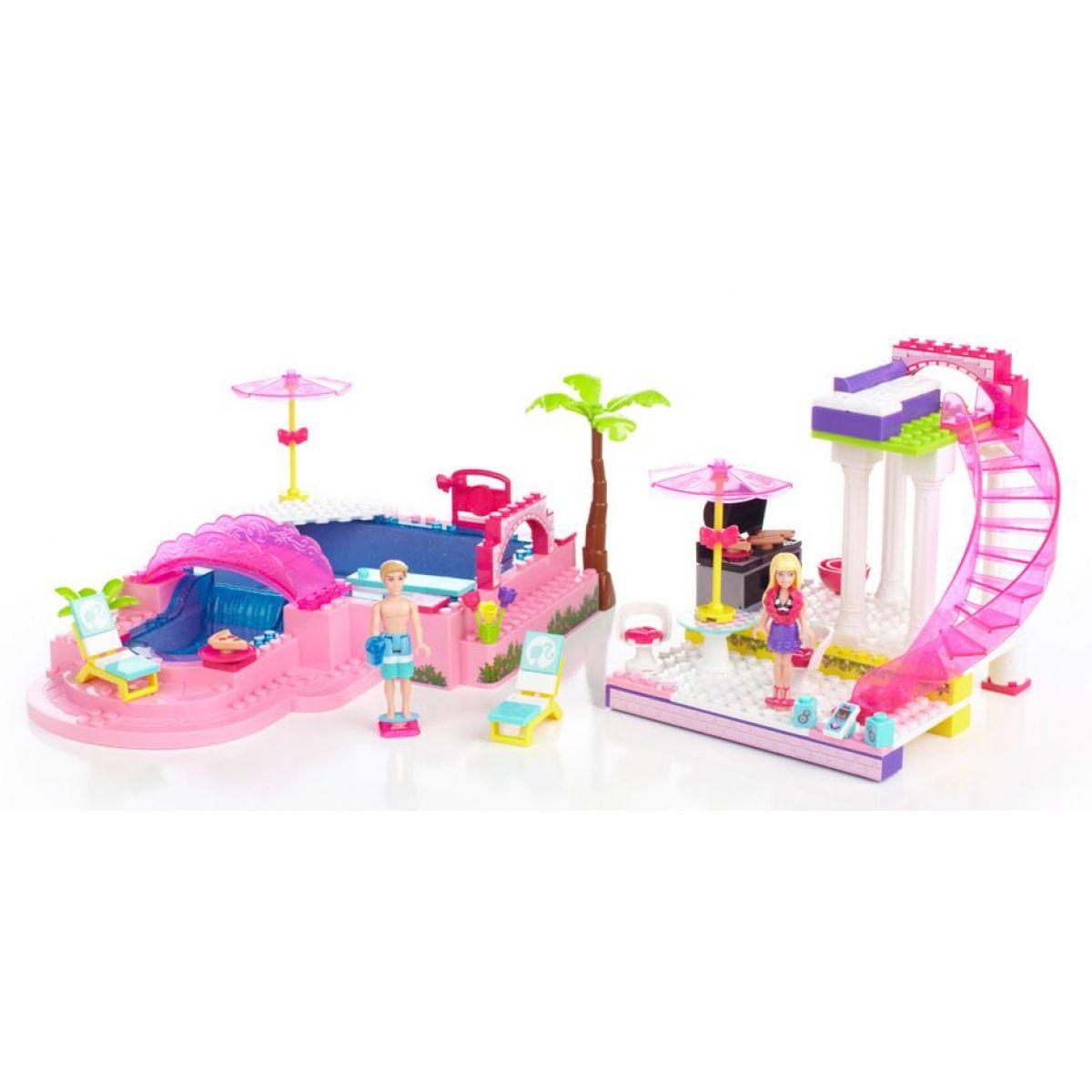 MEGABLOKS Micro 80228U - Barbie na party u bazénu
