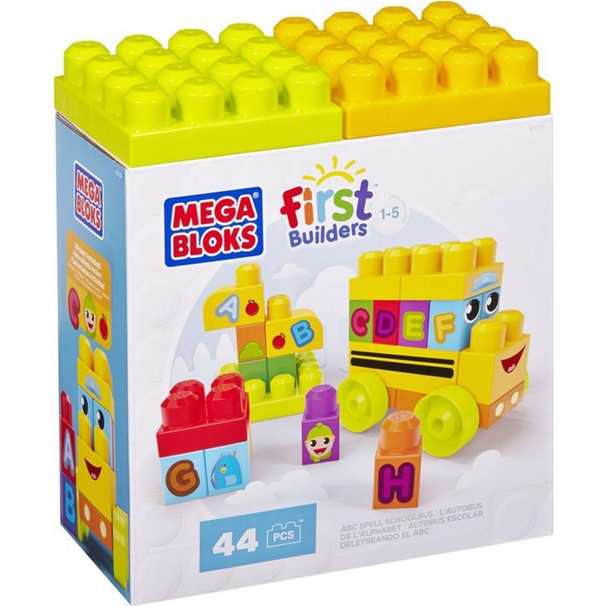Megabloks First Builders školní ABC 44 dílků