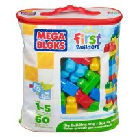 Megabloks Kostky v plastovém pytli 60 dílů