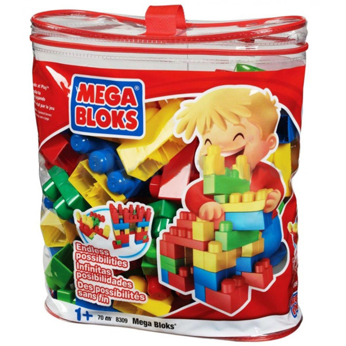 MEGABLOKS 8309 - 70 Mega Bloks kostek v plastovém pytli