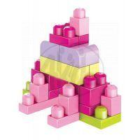MEGABLOKS Mega 08195 - Kostky v plastovém pytli-růžová barva, 60dílů 3