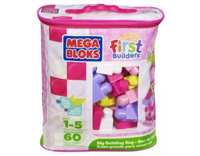 Megabloks Kostky v pytli 60 dílků růžové