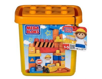 """MEGABLOKS Mega 06634 - Stavebnice v plastovém kbelíku """"Malý stavitel"""""""