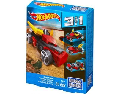 Megabloks Micro Hot Wheels 3v1 angličák - Rage Rider