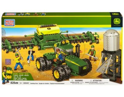 MEGABLOKS 80842 - Micro - John Deere - Velký agroset - secí stroj